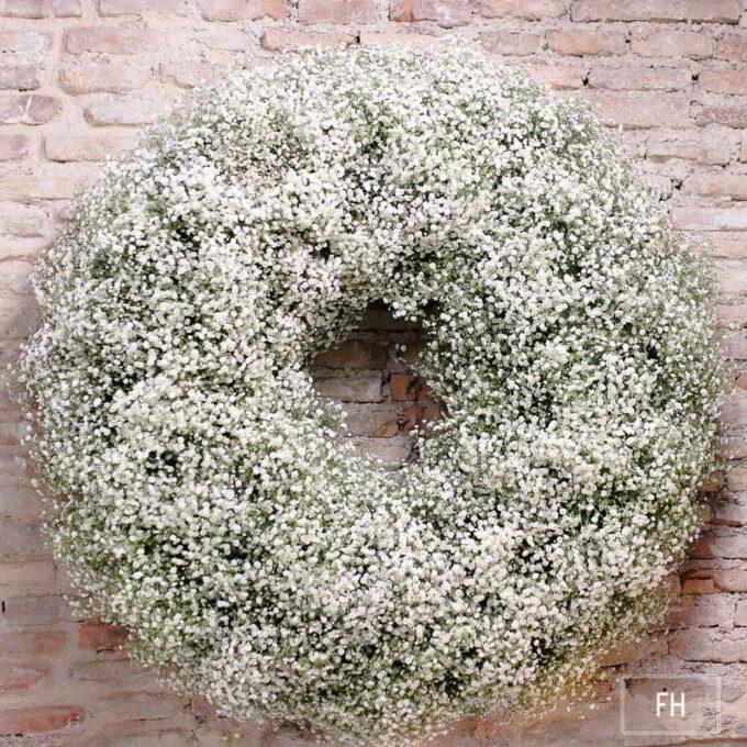 Flores condolenciaCorona difuntos tonos blancos paniculata - fh floristeria-fernando hijo - murcia