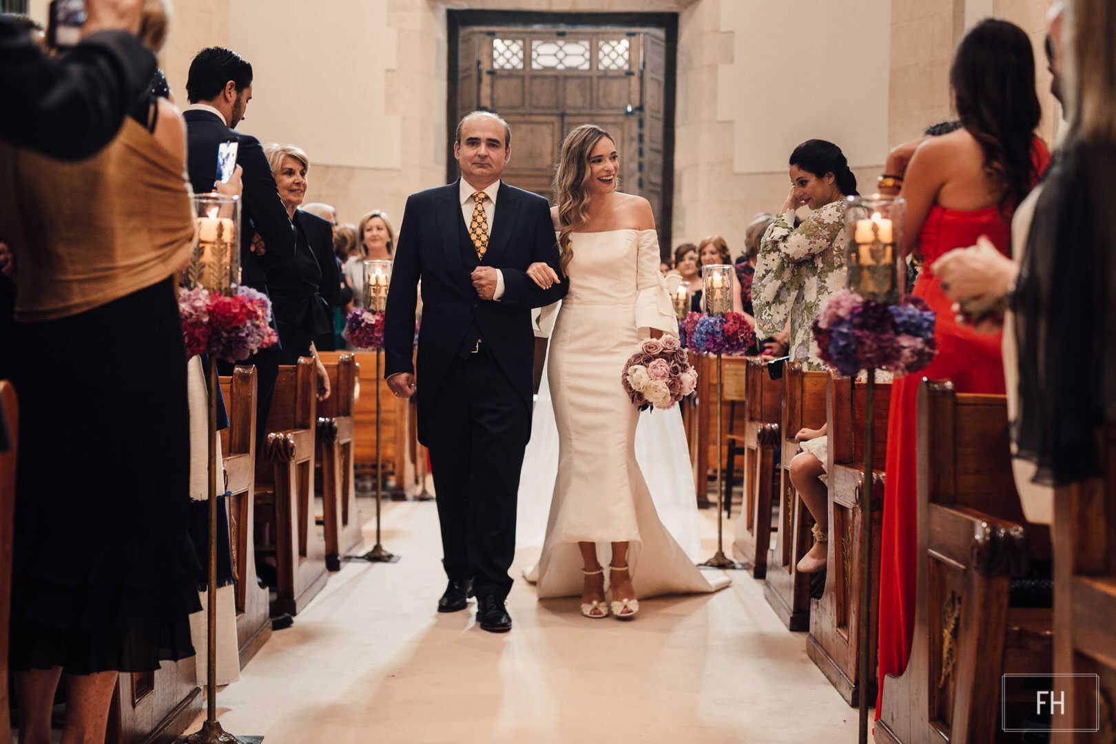 Decoración floral-FH floristería-fernando hijo-boda iglesia san lorenzo-Murcia