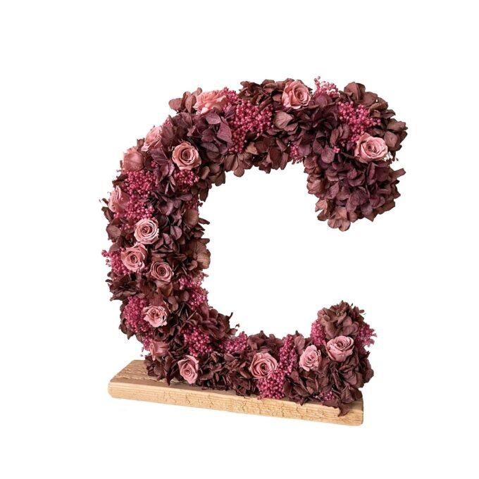 Letras Numero liofilizados - flores preservadas-fh floristería-fernando hijo-Murcia