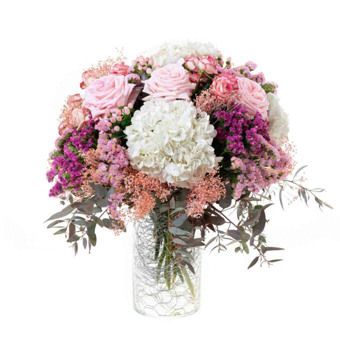 Jarrón con flores naturales de temporda-fh floristería-fernando hijo-Murcia